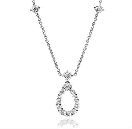Harry Winston Loop Pendant on a Diamond Chain