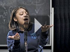 """Slam poetry, a blend of literature and performance that culminates in live competitions called slams, is transforming these students from reluctant, shy, or diffident learners into passionate artists. It is helping teachers not just teach writing but also build confidence."" See how kids are feeling the power of poetry through performance."