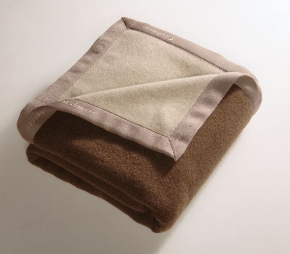 French Size Spring bed Blanket Extra Fine CASHMERE Precious Yarns in double face colours totaly natural Miryam, Made in Italy Free Shipment