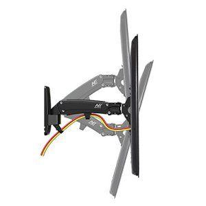 NB F350 Support mural ergonomique professionnel avec vérin à gaz pour TV LED 40″- 50″ de 8 à 16 kg