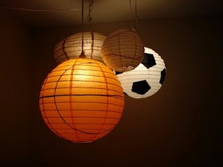 Awesome idea for a basement or boys room...Sports Lighting