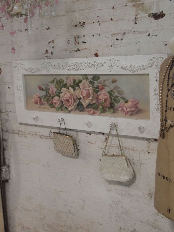 Impresión de lienzo de rosa romántico Shabby por paintedcottages