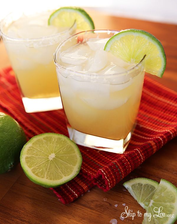 These are THE best margaritas! Everyone loves this cocktail recipe. The perfect balance between sweet and tangy with no fake tasting mixer. #recipe #margarita #cocktail skiptomylou.org