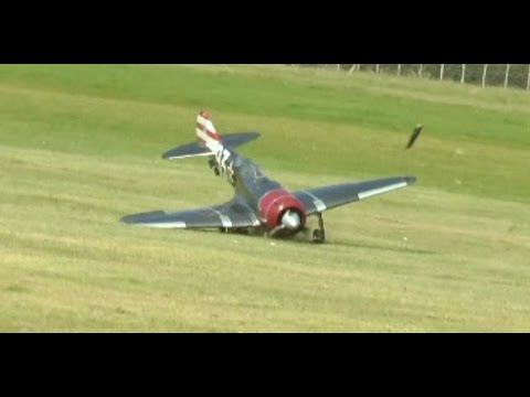 RC PLANE CRASH GIANT SCALE LAVOCHKIN L-A7 MOKI 250cc - MICK - HEADCORN RC MODEL AIRCRAFT SHOW - 2014 - http://atosbiz.com/rc-plane-crash-giant-scale-lavochkin-l-a7-moki-250cc-mick-headcorn-rc-model-aircraft-show-2014/