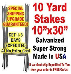Highway Traffic Supply Heavy Duty H Frame Wire Yard Sign Stake for 4mm Corrugated Signs, Pack of 10