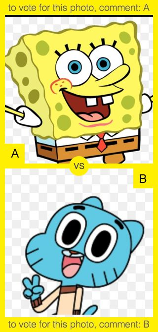 To vote for top photo comment A, to vote for bottom photo comment B. See results at http://swingvoteapp.com/#!polls/1472. Click here http://swingvoteapp.mobi/ to install Swingvote mobile app and create your own polls.
