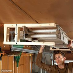 Extension Ladder Storage - An extension ladder is one of the most difficult things to store. When you need to use it, it has to be easy to get to. But…