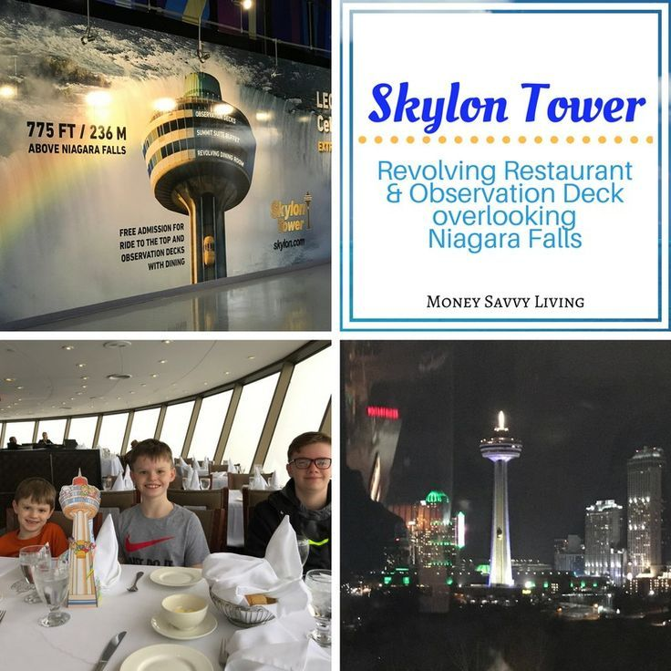 Family Friendly Things to do in Niagara Falls // Skylon Tower // Money Savvy Living #NiagaraFalls #exploreniagara #visitniagara #SkylonTower