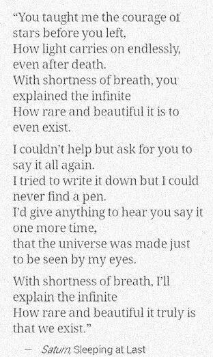 from saturn - sleeping at last