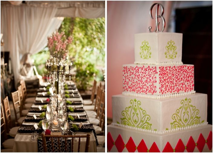 108 best pink and green bridal shower images on pinterest bridal pink and green wedding cake junglespirit Images