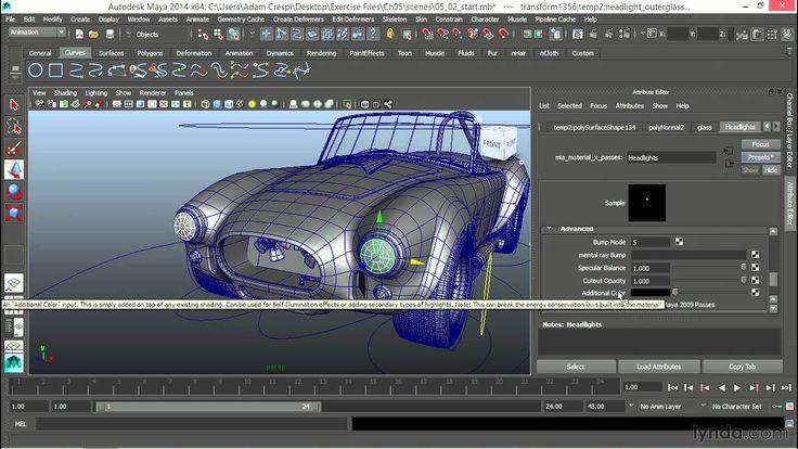 Maya tutorial: Creating normal and bright headlight controls | lynda.com