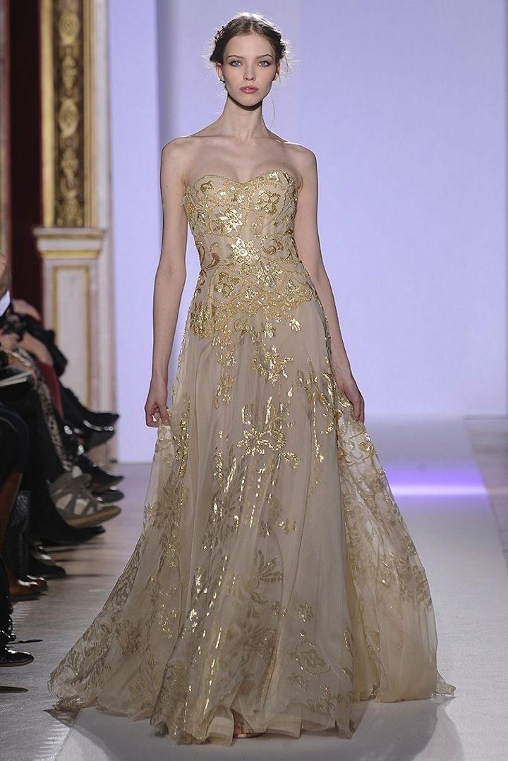 Zuhair Murad Gold Wedding Dress Colorful Wedding Dress