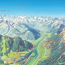 Panoramakort Reith im Alpbachtal: Kort Reith im Alpbachtal - Sæter - Reith im Alpbachtal
