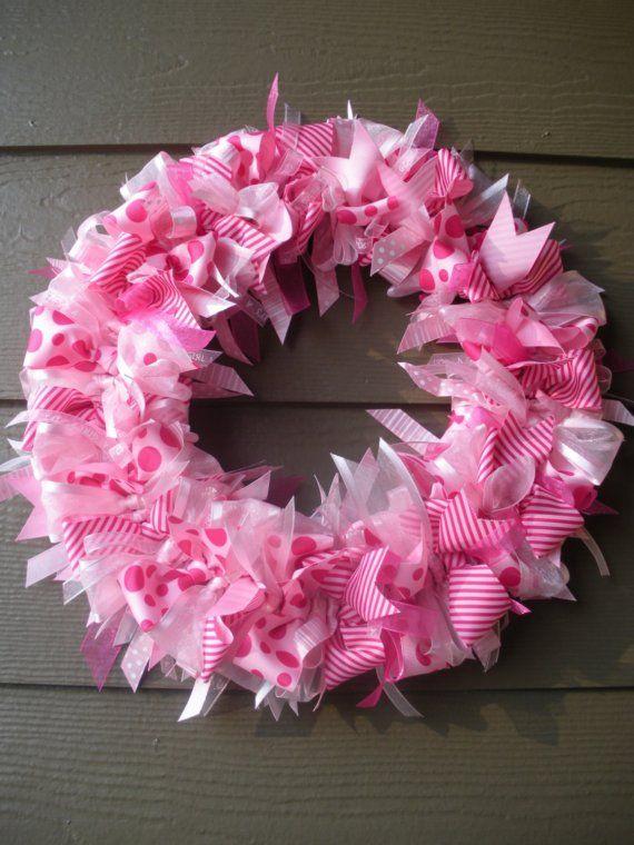 It's a girl! Ribbon wreath