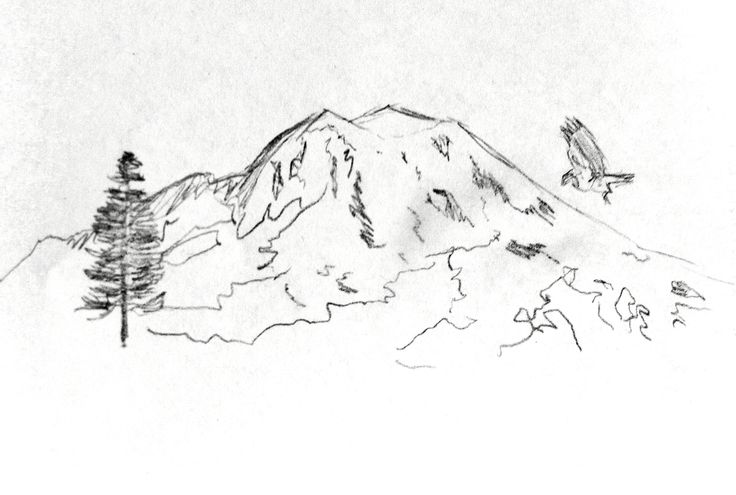My sketch for mountain...