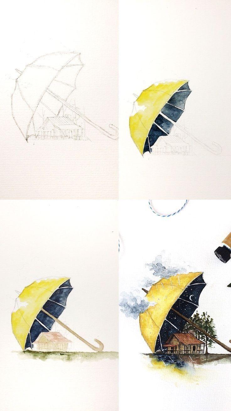 Driping Watercolors Sports Bag