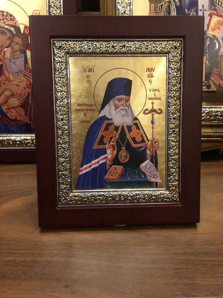 A personal favourite from my Etsy shop https://www.etsy.com/listing/513652563/saint-luke-the-evangelist-byzantine-icon