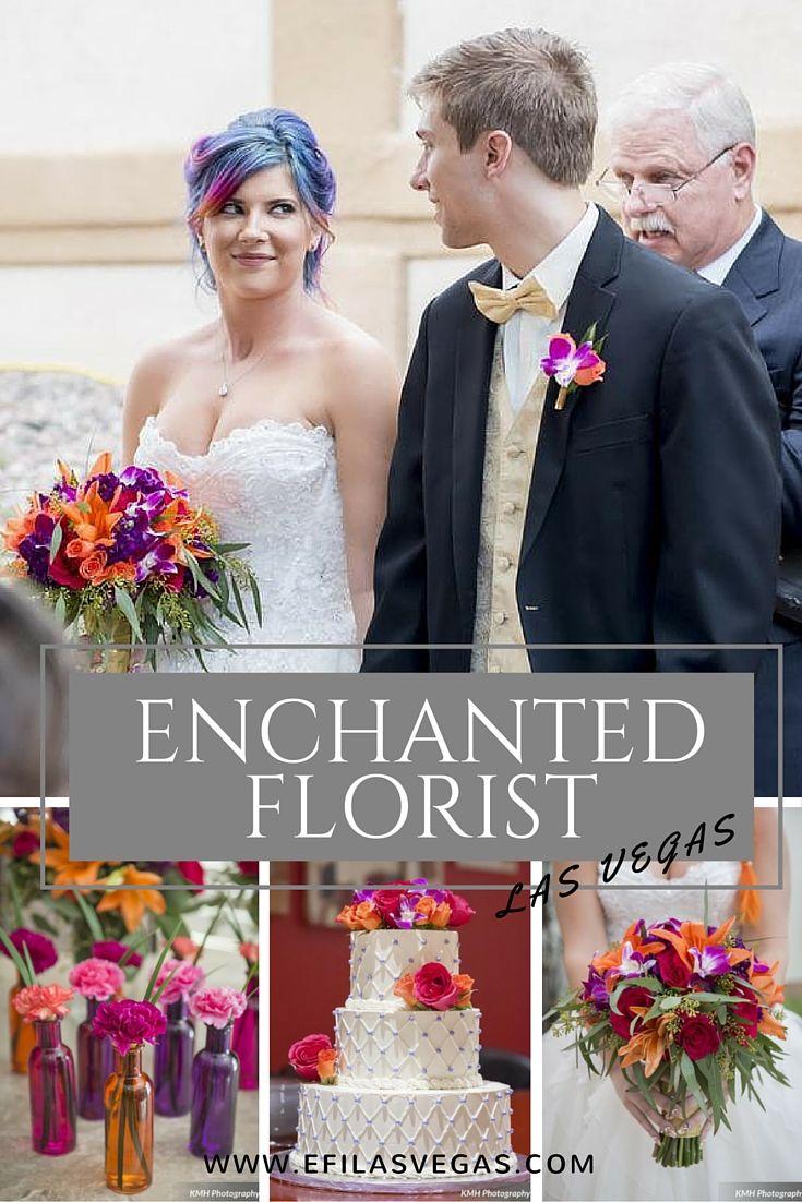 Enchanted Florist Las Vegas www.efilasvegas.com Bright and colorful rainbow wedding