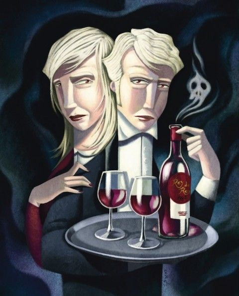 Illustration - David de Ramón - The Mushroom Company - waiter