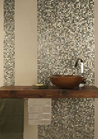 Beautiful and intricate mosaic tiling. Great bathroom decor.