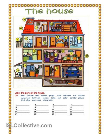 Vocabulary (A1 - B1). The house