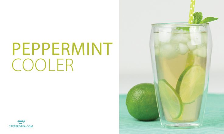 This Peppermint Cooler is fresh and light. Made with our premium loose leaf Peppy Peppermint herbal tea!