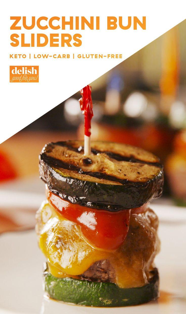 Zucchini Bun Sliders | Recipe | Recipe Ideas | Food recipes, Low carb, Slider recipes