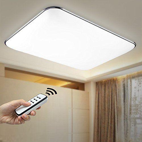 NatsenR 90W LED Deckenlampe Deckenleuchte Silber Warmweiss