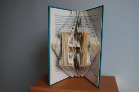 Initial Folded Book Art-18th birthday by Meiorigami on Etsy