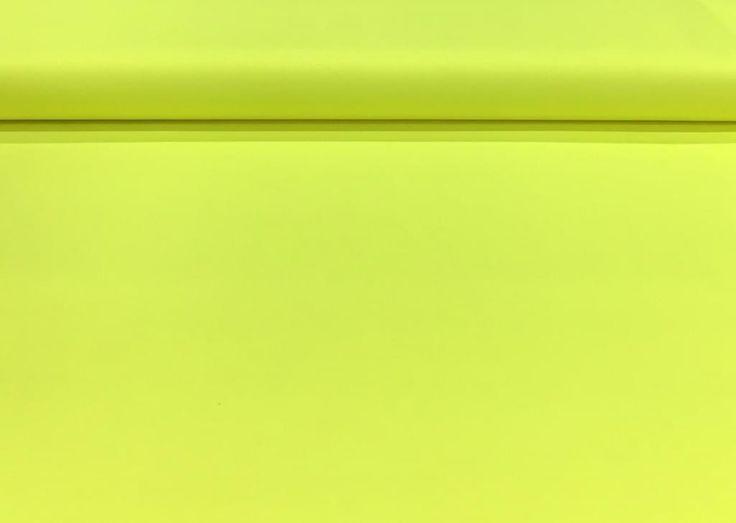 Neon gele katoen - Megastoffen.nl