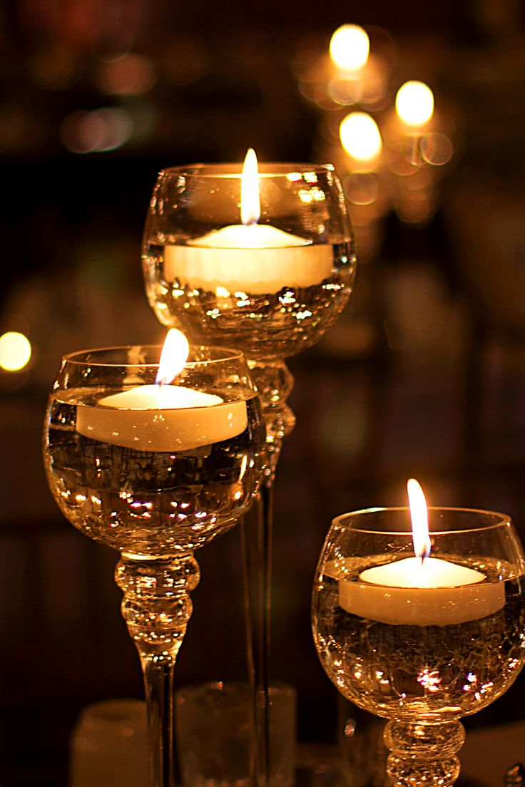 Amaze your guests with these floating candle centerpieces. | Downton Abbey, as seen on Masterpiece PBS