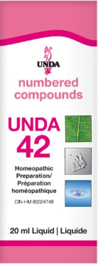Unda 42Neuralgia, Sciatica Unda 42 has an action on the peripheral nervous system. This remedy is indicated for sciatica, vertebral twinges of the sciatic nerve, gout, joint and osseous pains, and intercostal neuralgias.