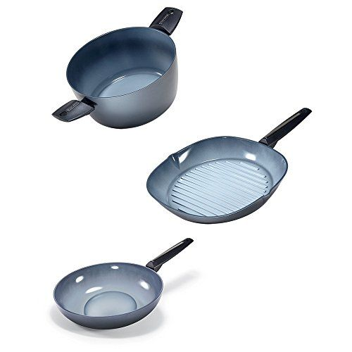 Moneta Azul Gres Dutch Oven 10475 qt Grill Pan 115 and Wok 115 >>> Find out more details @