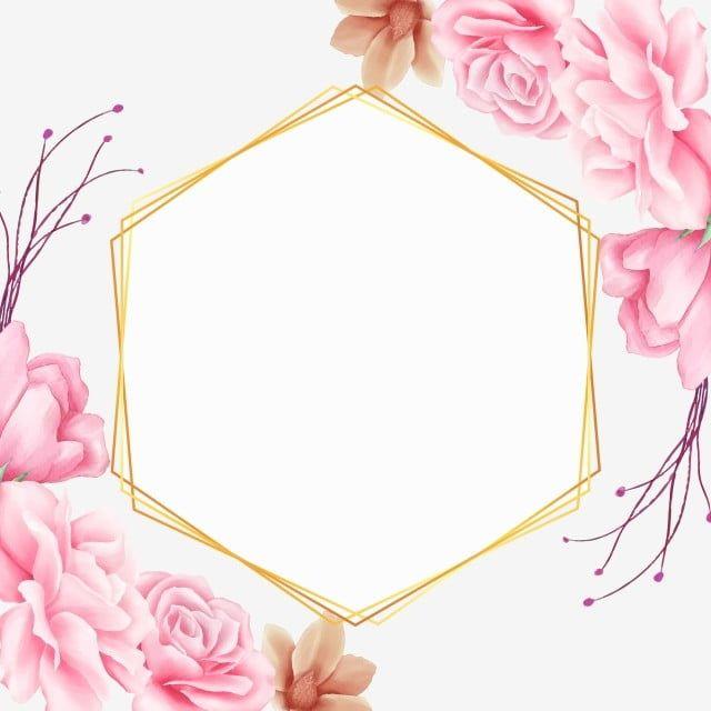 幾何框架與美麗的粉紅色水彩花 Card聖 花的 邀請向量圖案素材免費下載 Png Eps和ai素材下載 Pngtree In 2021 Watercolor Flowers Pink