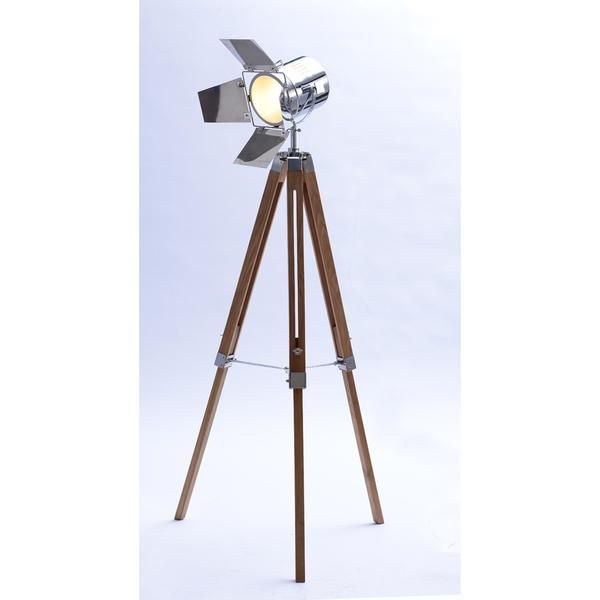 Tripod Floor Lamp With Chromed Head And Sheets – Click Online Sales