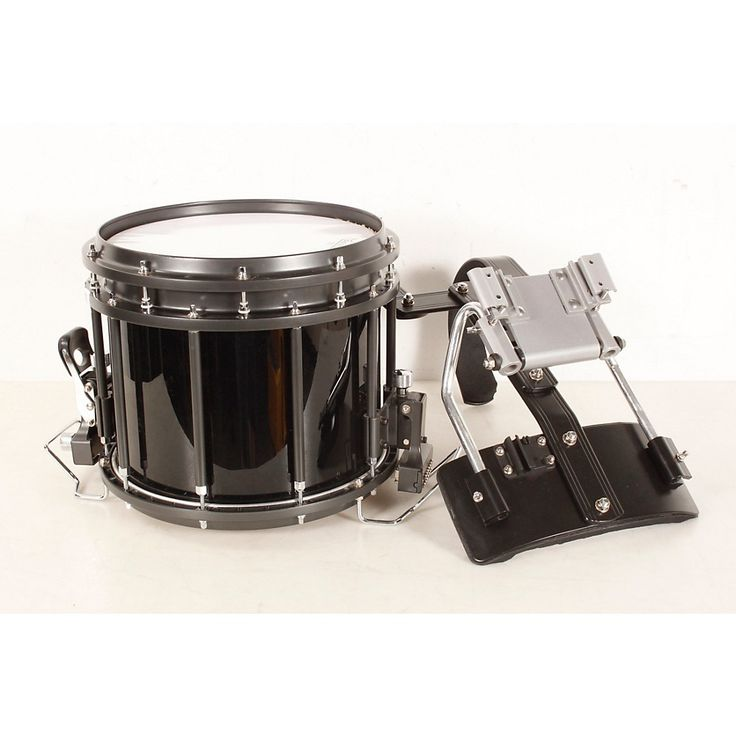 Sound Percussion Labs High-Tension Marching Snare Drum with Carrier 13 x 11 in., Black 888366074343