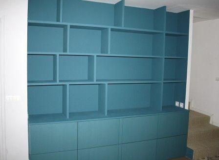 Bibliothèque sur-mesure DIY