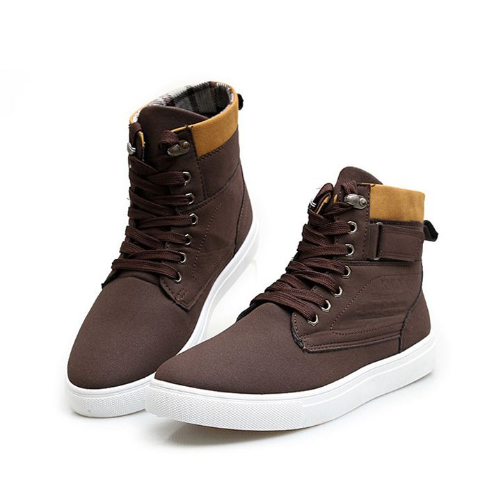 Free shipping Autumn winter warm high men's casual shoes fashion men's shoes boots street shoes sneakers XMB015 $26.88