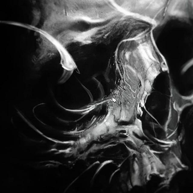 WEBSTA @ _kizm_ - Tomorrow. @wacomtattooteam #digitalart #organica #kizmkrafts #skull