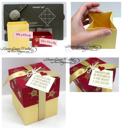 17 Best Images About Stampin Up Gift Box Punch Board Ideas