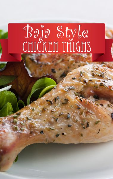 Chef Marcela Valladolids baja style braised chicken thighs recipe is low in carbs and cost.