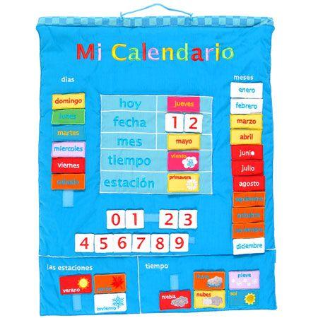 Calendario infantil: Spanish Calendar, Calendario Spanish, Rachel Toys, Calendario Infantil, Toys Shops, Fiestas Crafts, Mi Calendario, Calendario Carson, Fabrics Wall