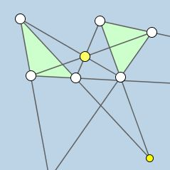 Dynamic & Modifiable Illustration of One Conditional Statement of Desargues's Theorem