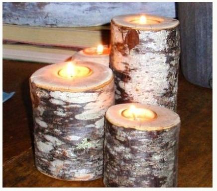 Pretty: Wood, Wedding Ideas, Logs, Decorating Ideas, Log Candles, Log Candle Holders, Diy, Craft Ideas, Crafty Ideas