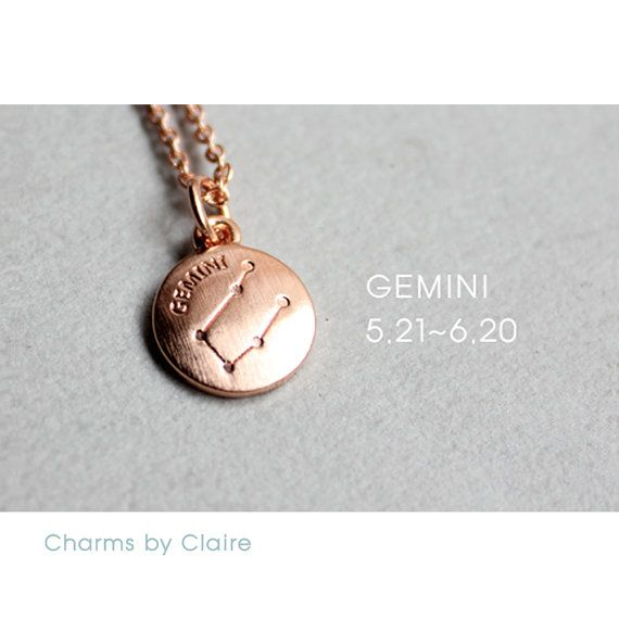 Hey, I found this really awesome Etsy listing at https://www.etsy.com/listing/450496570/gemini-zodiac-disc-charms-rose-gold