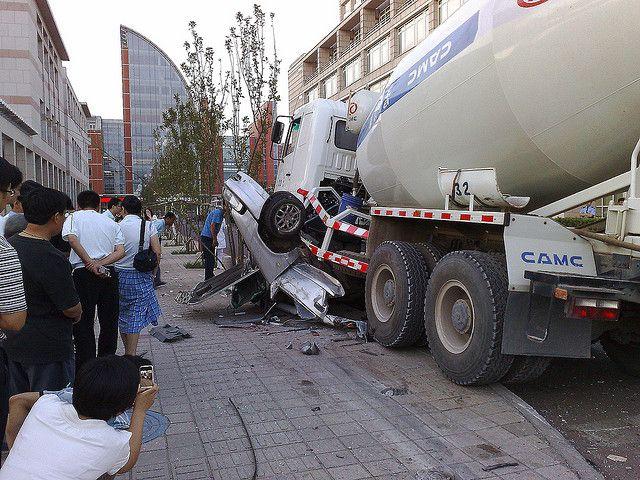 Redi Mix Truck Accident 4 Cement Mixer Truck Mixer