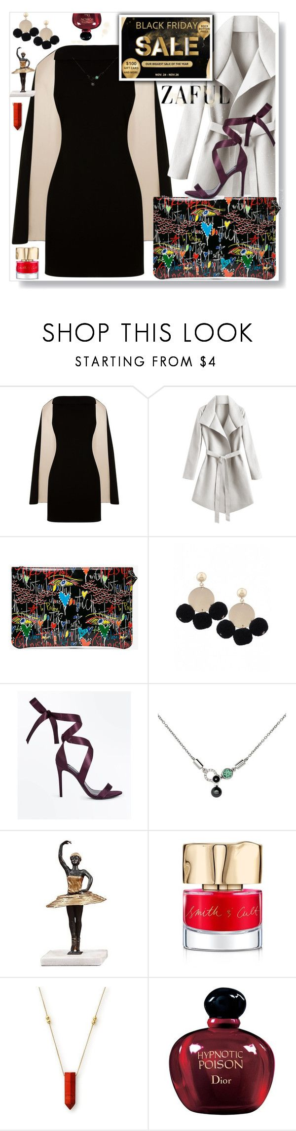 """""""Zaful Black Friday"""" by eldinreham ❤ liked on Polyvore featuring Alice + Olivia, Christian Louboutin, New Look, Nathalie Jean, Smith & Cult, Alex and Ani and Christian Dior"""