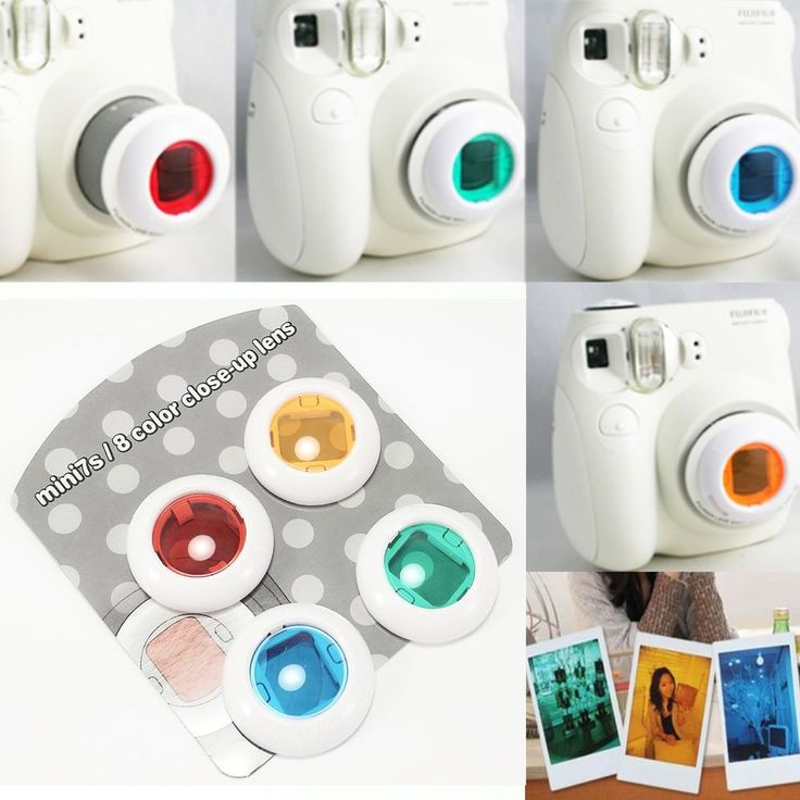 Film Camera Colour Filter Close Up Lens Polaroid for Fujifilm Instax Mini 7s / 8