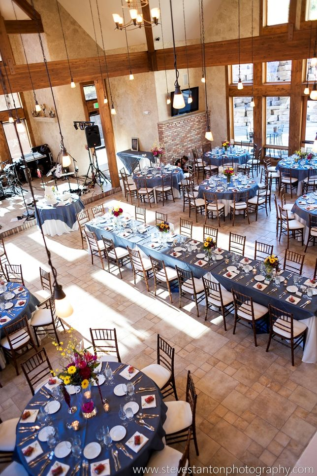 Blue and Cranberry wedding