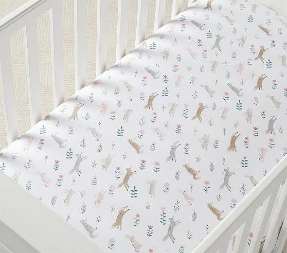 Organic Ramona Fitted Crib Sheet In 2020 Woodland Baby